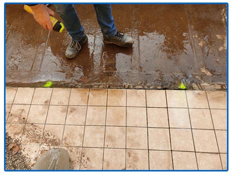 Localizzazione infiltrazione d'acqua e verifica impermeabilizzazione guaina su terrazzo pensile Condominiale, con l'utilizzo di Gas Idro/Azoto