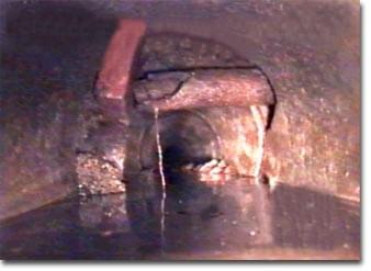 Videoispezione condotta di scarico acque nere