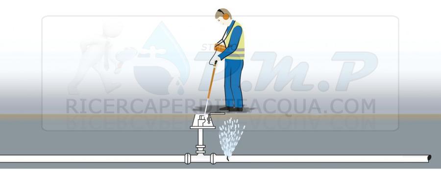 P.M.P. Geofono in azione alla ricerca perdite d'acqua